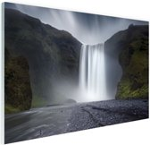 Waterval Glas 90x60 cm - Foto print op Glas (Plexiglas wanddecoratie)