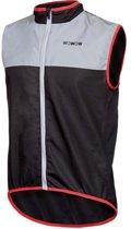 Wowow Dark Reflectievest 1.1 Fietsjas - Maat S  - Unisex - zwart/zilver/rood