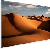 De Marokkaanse duinen Erg Chebbi tijdens de ochtend Plexiglas 120x80 cm - Foto print op Glas (Plexiglas wanddecoratie)