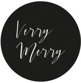 Villa Madelief Verry Merry sticker zwart