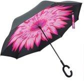 Powerplu - Binnenstebuiten Paraplu – Pink Flower