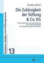 Die Zulaessigkeit Der Stiftung & Co. Kg