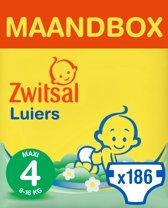 Zwitsal Maandbox Maat 4 (Maxi) 8-16 kg Luiers - 186 stuks