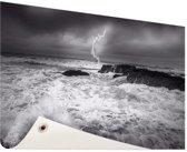 Storm op zee  Tuinposter 200x100 cm - Tuindoek / Buitencanvas / Schilderijen voor buiten (tuin decoratie) XXL / Groot formaat!