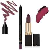 L'Oreal Paris Colour Riche Matte Lipstick and Liner - Gift Set - 707 Matte-Jestic + 104 Curiosity Killed the Matte