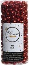 Rode kerstversiering discobal kralenketting 700 cm - kerstslinger