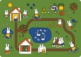 Kreisy Nijntje Day of Miffy/Dag met Nijntje - Speelmat Velours - Wasbaar - Antislip - 130x90 cm - Groen