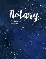 Notary Public Journal: Notary Public Official Records Journal Log Book, Blue Matte Cover, 8.5' X 11'' 110 pages.