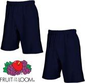 Fruit of the Loom (2 Pack) Korte Broeken Blauw Maat S