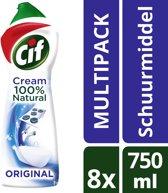 Cif Schuurmiddelen Normaal - 8x 750 ML - Voordeelverpakking