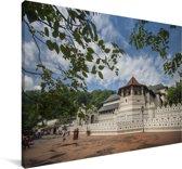 De achthoekige kamer van de Tempel van de tand in Azië Canvas 60x40 cm - Foto print op Canvas schilderij (Wanddecoratie woonkamer / slaapkamer)