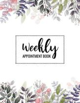 Weekly Appointment Book: 52 Weeks Daily Planner Organizer with Times for Salons, Spas, Hair Stylist, Beauty, Massage, Nails Monday To Sunday 7a
