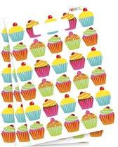 Cupcake thema feestzakjes 6 stuks