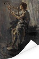 David - Schilderij van Jozef Israëls Poster 120x180 cm - Foto print op Poster (wanddecoratie woonkamer / slaapkamer) XXL / Groot formaat!