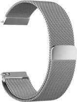 Metalen armband voor Fitbit Blaze frame magneet slot - Zilver (alleen het bandje, geen frame en geen smartwatch inbegrepen) - Kleur - Zilver, Maat - S (23.5cm)