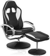 Gamer PRO WH 110 - Lounge stoel Zwart / Wit