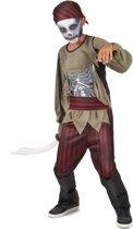 Zombie piraten skelet kostuum voor jongens - Verkleedkleding