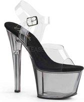 EU 36 = US 6 | SKY-308T | 7 Heel, 2 3/4 Tinted PF Ankle Strap Sandal