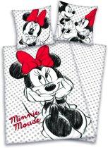Minnie Mouse dekbedovertrekset 140x200/65x65cm 100% katoen