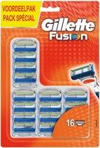 Gillette Fusion Scheermesjes Navulling - 16 stuks