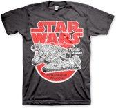 Merchandising STAR WARS - T-Shirt Millennium Falcon - Dark Grey (L)