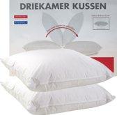 Klaas Vaak Driekamer Kussen Set (2 Stuks) - Eendendons - 60x70 cm - Wit