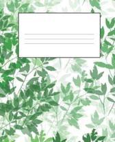 Green Composition Notebook: Primary Ruled Notebook Lined School Journal - 110 Pages - 7.5 x 9.25'' - Children Kids Girls Boys Teens Women Wide Rule