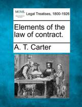 Elements of the Law of Contract.