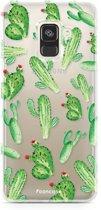 FOONCASE Samsung Galaxy A8 2018 hoesje TPU Soft Case - Back Cover - Cactus