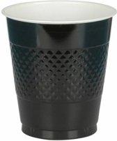 Zwarte Bekers Plastic 355ml 10 stuks