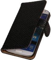 Samsung Galaxy Core II Hoesje Slang Bookstyle Zwart