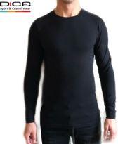 DICE Longsleeve shirt ronde hals zwart maat XL