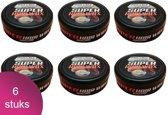 Black & Red Ultra Strong Haar Wax 6 Verpakking - Argan