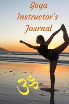 Yoga Instructor's Journal: Dotted Grid Matrix for Drawing Stick Figures and Planning Classes