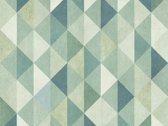 Vinyl vloervinyl | 50 schades of green , Groen mozaÌ_ÌÇÌ__Ì_ÌÇÌ__ek vloervinyl | 100x100cm