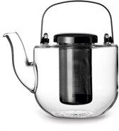 Viva Scandinavia - Koffie & Thee Bjorn Theepot - Glas - Incl Filter - 0,65 liter - Zwart