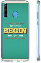 Huawei P30 Lite Telefoonhoesje met tekst Quote Begin