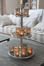 Rivièra Maison Berkeley Glass - Taartstandaard - Met 3 verdiepingen - Zilverkleurig