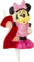 Minnie™ kaarsje cijfer 2 - Feestdecoratievoorwerp