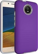 Let op type!! Voor Motorola Moto G5s antislip Armor Cover beschermhoes terug Shell(Purple)