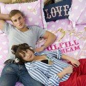 Little Diva Fulfill the dream dekbedovertrek - Pink - Lits-jumeaux (240x200/220 cm + 2 slopen)
