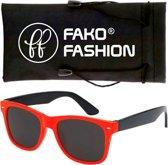 Fako Fashion® - Kinder Zonnebril - Duo - Rood/Zwart