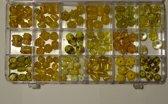 Make Me Glaskralen Geel Assortie Circa 135 stuks