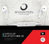 Brigmton BML 10 In-ear Monauraal Draadloos Wit mobiele hoofdtelefoon