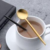 Gouden Koffie Lepel -  Gouden Set van 4 - Roestvrijstaal - Vaatwasserbestendig - Gouden Thee Lepel - IJs Lepel - Dessert Lepel