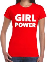 Girl Power tekst t-shirt rood dames - dames shirt Girl Power M