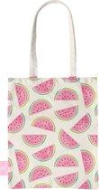 BEACHLANE - Katoenen tasje - Canvas Tote Bag Shopper - Watermeloen print - Schoudertas / Boodschappen tas