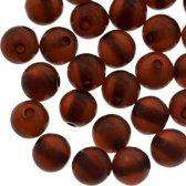 Resin Kralen (8 mm) Brown Shine (50 Stuks)