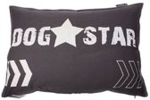 Lex & max dogstar hondenkussen rechthoek  100x70cm grijs