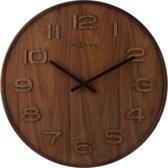 NeXtime Wood Wood Big - Klok - Groot - Rond - Hout - Ø 53 cm - Bruin
